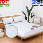 Microfiber Quilted Mattress Protector Pad Cover Topper Queen Full King Size Bed image