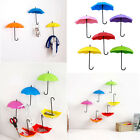 3xHooks Umbrella Wall Hook Key Hair Pin Holder Organizer Decorative Hanger CRI