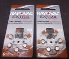 Rayovac Extra Advanced Hearing Aid Battery Size P312-6 to 240 batteries
