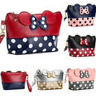 Cute MINNIE MICKEY MOUSE Polka Dots Travel Cosmetic Bag Case Clutch Bag Handbag