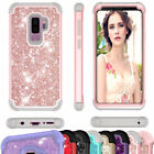 Glitter Hybrid Bumper Shockproof Hard Case Cover For Samsung Galaxy S9 / S9 Plus