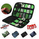 Digital USB Cable Storage Bag Earphone Gadget Devices Organizer Kit Travel Case