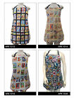 """US HANDMADE REVERSIBLE APRON WITH """"LOTERIA """" PATTERN, COTTON, NEW"""