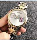 New 2019 Women's Dress Stainless Steel Color Letter Bear Wrist Fashion Watch image