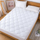 Cooling Mattress Pad Down Alternative Quilted Matress Cover Fitted Deep Pocket image