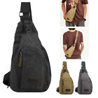 Men's Outdoor Canvas Satchel Messenger Bag Shoulder Bag Travel Hiking Backpack