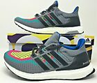 Adidas UltraBoost 2.0 Mens Running Shoes Multi-Color Gradient Green (AQ4003) NEW