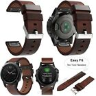 Quick Fit Leather Watch Band Strap Belt For Garmin Fenix 3 HR 5 5X 5S 935 MARQ