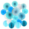 Cocodeko Hanging Set, Tissue Paper Poms Flower Fan and Honeycomb Balls for