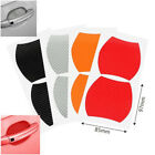 4x Vehicle Car Door Handle Sticker Scratches Resistant Decor Protection Cover Hy
