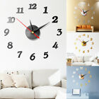 Modern Large Wall Clock 3D Mirror Sticker Unique Big Number Watch DIY Decor