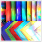Holographic Rainbow Heat Transfer Vinyl Foil Iron on for T-Shirt HTV Film Sheets
