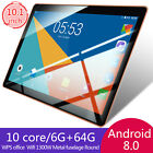 "New 10"" HD Game Tablet PC Ten Core 6 64G Android 8.0 GPS 3G Wifi Dual Camera"