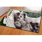 Lovely Cat Entry Rug Non Slip Indoor Door Mats Home Decor Rubber Notebook Pad