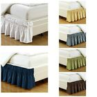 Ruffled Elastic Solid Bed Skirt Wrap Around Thread Count Microfiber 15 Inch Fall image