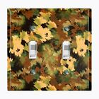 Metal Light Switch Cover Wall Plate Home Decor ARTISTIC GREEN CAMO