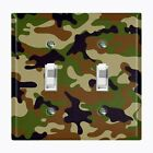 Metal Light Switch Cover Wall Plate Home Decor GREEN BROWN CAMO
