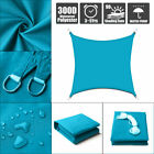 Waterproof Sun Shade Sail Outdoor Top Canopy Patio 10.5' 16.5' Square UV Blue
