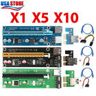 Lot USB 3.0 Pci PCI-E Express 1x To 16x Extender Riser Card Adapter Power Cable