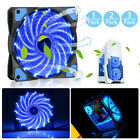 120mm DC 15 LED Light Cooling Case Fan for Computer PC Quiet Edition CPU Cooler