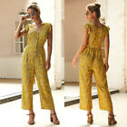 Women Clubwear Floral Summer Playsuit Bodycon Party Jumpsuit Romper Trousers USA