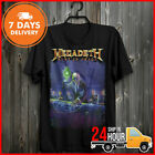 Peace Megadeth Rust T Shirt Black So Metal Band Rock Size New Free Shipping image