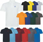 New Polo Shirt Short Sleeve Horse Fish Designer Pique Casual Golf Polo Shirt
