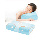 Cervical Pain Relief Memory Pillow Orthopedic Latex Neck Fiber Massager Pillow image