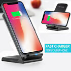 10W 2 Coils QI Wireless Charger Fast Charging Pad Stand Dock for Mobile Phones