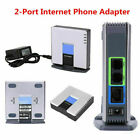 Unlocked For Linksys PAP2T PAP2T-NA SIP VOIP Phone Adapter 2 Port Gateway RJ45 W