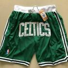 Boston Celtics Vintage Basketball Game Shorts NBA Men's NWT Stitched Pants