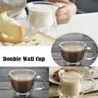USA Double Wall Cup Coffee Glass Tea Mug Insulated Mugs Espresso Cups Wine Beer