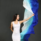 100 Silk Stage Performance Dance Belly Dance Gradient Color Silk Shawls Veil