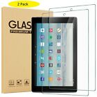 """2PCS Tempered Glass Screen Protector For Amazon Kindle Fire HD 7"""" 8"""" 10"""" Tablet"""