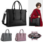 Women Large Briefcase Shoulder Bag With Padded Compartment Laptop Bag 156