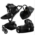 Hot mom Baby Stroller 3 in 1 Aluminium Alloy high-view Folding Shock baby