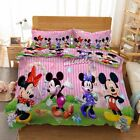 Spot Mickey Mouse 3D Printing Duvet Quilt Doona Covers Pillow Case Bedding Sets image