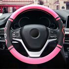 15''/38cm Car SUV Steering Wheel Cover Microfiber Leather Breathable Accessories