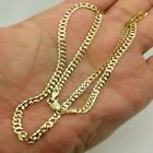 "14K Solid Yellow Gold Cuban Chain Necklace 2.4MM 16"" 18"" 20"" 22"" 24"" 26"" 28"" 30"" image"