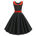 Women Vintage Retro Hepburn ROCKABILLY Dress Evening Party Cocktail Swing Dress