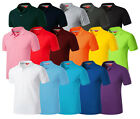 Mens Stylish Vivid Daily 16 Colors Polo Pique Collar Casual T-Shirts T300 XS-2XL