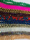 Briolette Rondelle Crystal Glass Beads, 10mm, Asst Colors Approx 65 Beads/string