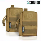 [2-PACK] Tactical MOLLE Pouch Multi-Purpose EDC Utility Outdoor Hiking Small Bag