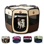Pet Dog Cat Playpen Tent Exercise Fence Kennel Cage Portable Soft Crate House US