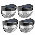 4pack solar power garden lights 6 led light outdoor wall path yard fence lamp