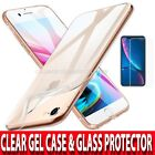 360 Case iPhone SE 2020 5 8 Ultra Slim Clear Gel Cover & Glass Screen Protector