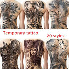 Waterproof Unisex Temporary Tattoo Sticker Large Full Back Arm Body Art Tattoos $8.85 USD on eBay