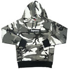 SUPREME 13AW Box Logo Pullover Snow Camo Hoodie GRAY S