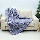 Handmade Large Luxury Chunky Knit Blanket Wool Thick Yarn Knitted Throw Bed Sofa image