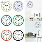 Silent Non-ticking Wall Clock Quartz Round Clock for Room Office Kitchen Simple_